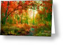 The Red Forest Greeting Card