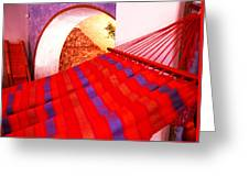 The Red Hammock Greeting Card