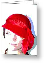 The Red Hat II Greeting Card