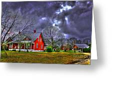 The Red House Greeting Card