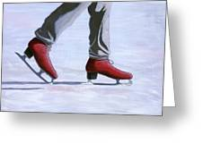 The Red Ice Skates Greeting Card