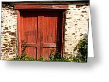 The Red Mill Door Greeting Card
