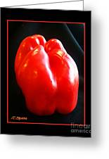 The Red Pepper Greeting Card