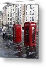 The Red Phone Booth Greeting Card