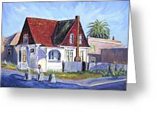 The Red Roof House Greeting Card