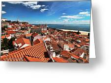 The Red Roofs Of Lisbon #2 Greeting Card