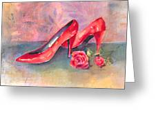 The Red Shoes Greeting Card