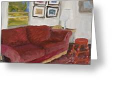 The Red Sofa Greeting Card