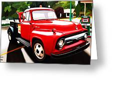 The Red Tow Truck Greeting Card