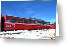The Red Train Greeting Card