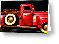 The Red Truck Greeting Card