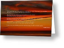 The Renewal Poem Greeting Card