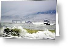 The Restless Sea Greeting Card