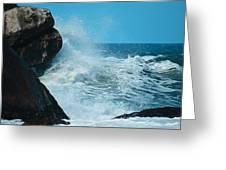 The Restless Sea Digital Art Greeting Card