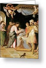The Resurrection Of Jairus's Daughter Greeting Card