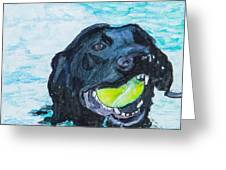 The Retrieve Greeting Card by Roger Wedegis