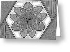 The Rh Molecule Greeting Card