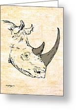 The Rhino Greeting Card