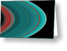 The Rings Of Saturn Greeting Card