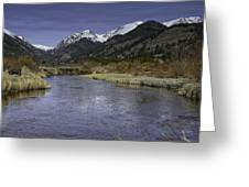 The River Flows Greeting Card by Tom Wilbert