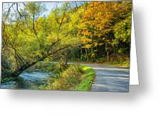 The River Road Curve Greeting Card