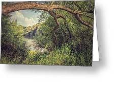 The River Severn At Buildwas Greeting Card