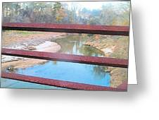 The River Through The Rails Greeting Card