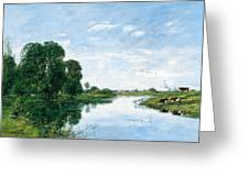 The River Touques At Saint-arnoult Greeting Card