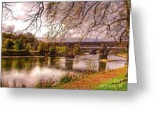 The Riverside At Avenham Park Greeting Card