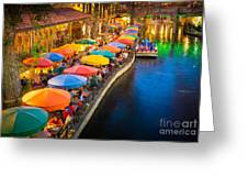The Riverwalk Greeting Card by Inge Johnsson