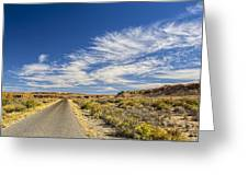 The Road Goes On Forever Greeting Card