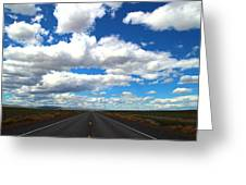 The Road Goes On Greeting Card