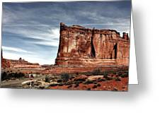 The Road Through Arches Greeting Card