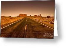 The Road To Monument Valley -utah  Greeting Card