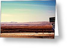 The Road To Vegas  Greeting Card