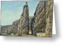 The Rock At Bayard, Dinant, Belgium Greeting Card