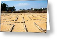 The Rock Maze Santa Barbara Greeting Card