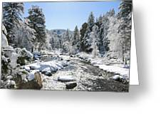 The Rockies In Winter Greeting Card