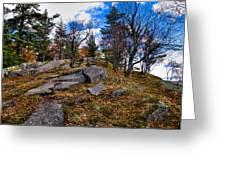 The Rocks Above Eagle Bay IIi Greeting Card