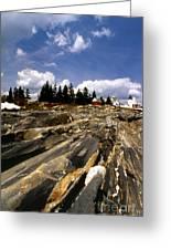 The Rocks At Pemaquid Greeting Card
