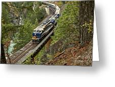 The Rocky Mountaineer Greeting Card