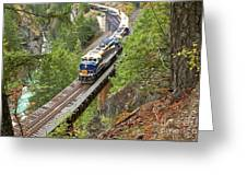 The Rocky Mountaineer Railroad Greeting Card