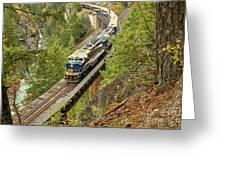 The Rocky Mountaineer Train Greeting Card