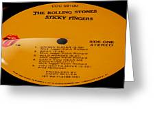 The Rolling Stones Sticky Fingers Side 1 Greeting Card