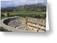 The Roman Theatre In Aspendos Antalya Turkey  Greeting Card