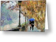 The Romantic Stroll Greeting Card