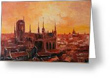 The Roofs Of Gdansk Greeting Card