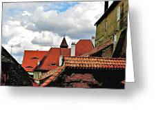 The Roofs Of Sibiu In Transylvania Greeting Card