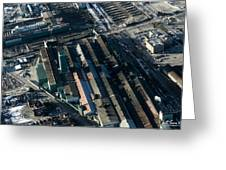 The Rooftops Of Arcelormittal Dofasco Greeting Card