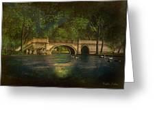 The Rose Pond Bridge 06301302 - By Kylie Sabra Greeting Card